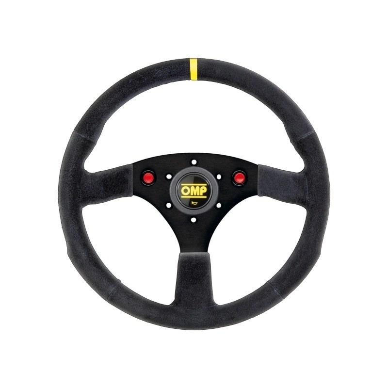 Kierownica OMP 320 ALU SP z przyciskami i klaksonem - GRUBYGARAGE - Sklep Tuningowy